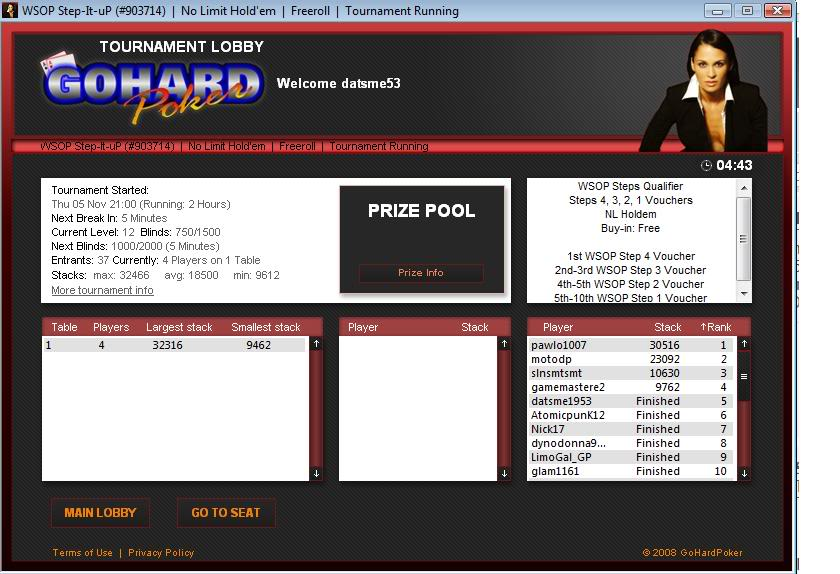 WSOP Step 2 Voucher Win WSOPStepItUpStep2voucherwin