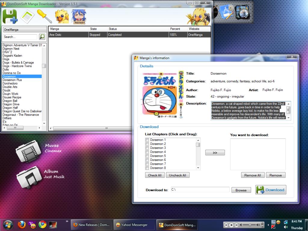 DomDomSoft Manga Downloader - Download từ Onemanga và FoxManga Manga