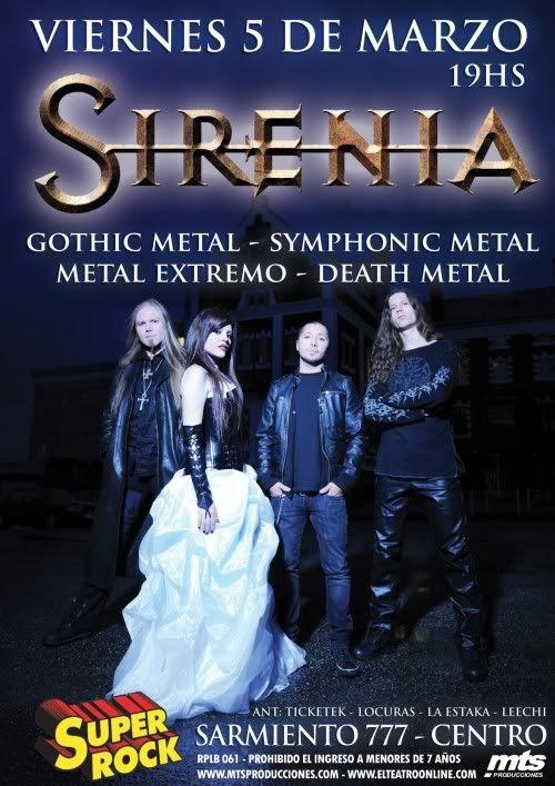 Sirenia en Argentina - 5/3/10 Sireniabr
