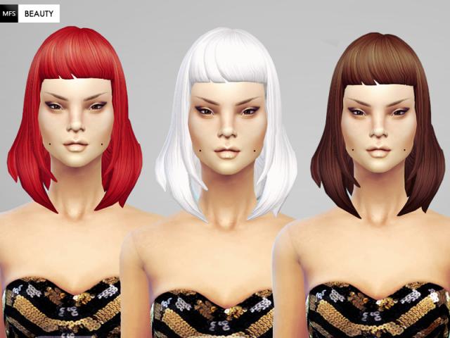 Прически для The Sims 4 Женские. A5e273c0111c400eadb61e1112e8c718