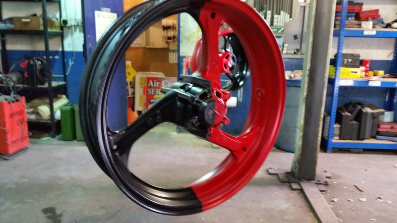 thought i would paint my wheel :) 20150404_111010