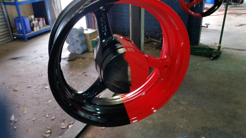 thought i would paint my wheel :) 20150404_120554