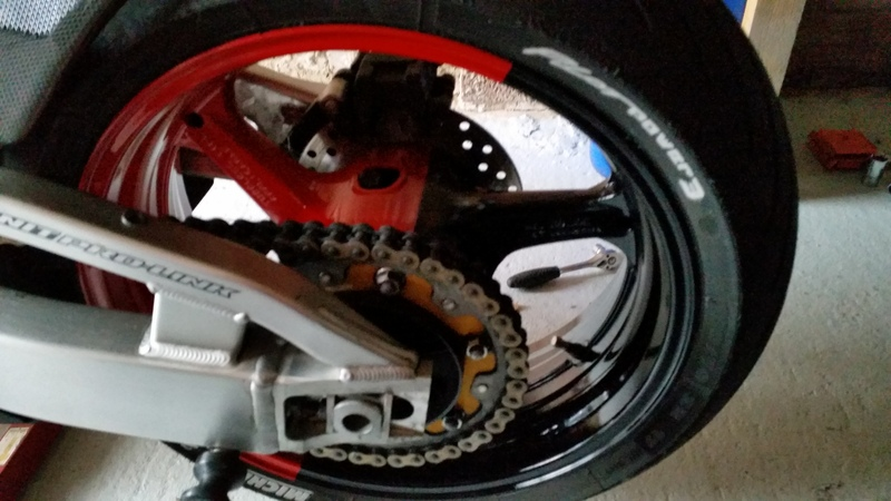 thought i would paint my wheel :) 20150408_191733