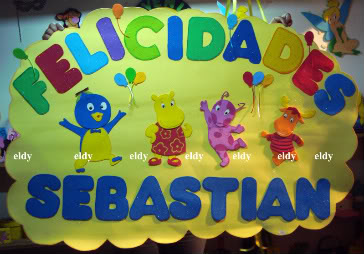 ideas para centros de mesa y decoracion de los backyarndigas Cartel5backyardigans