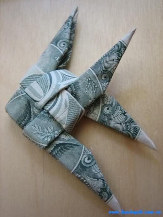 Nghệ thuật gấp tiền giấy! và cách gấp :X  Gt