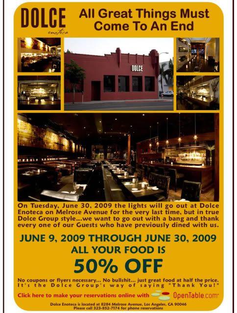 Boogie's Dolce Encoteca restaurant in LA will be closing 3b7789d8