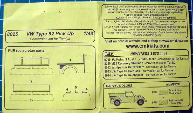CMK 1/48 Type 82 VW pickup conversion Inst1-1_edited-1