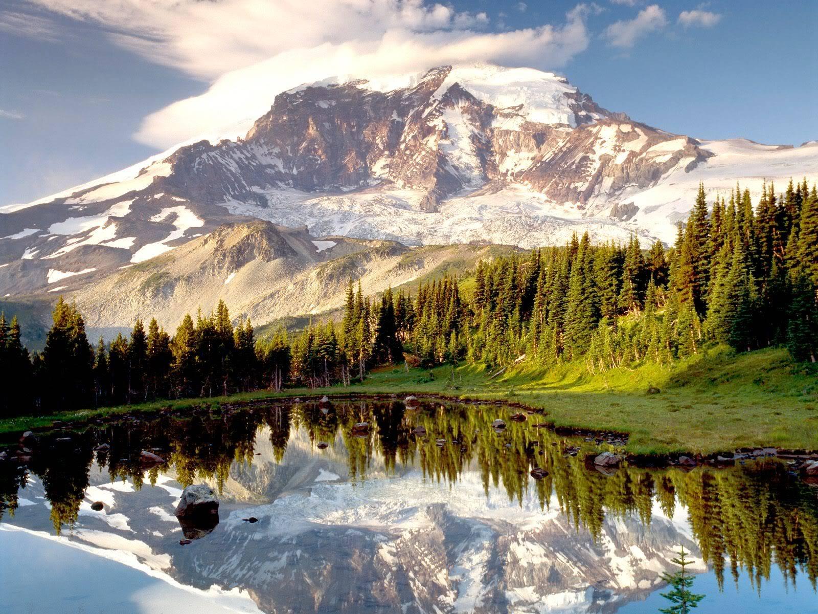 அழகு மலைகளின் காட்சிகள் சில.....02 - Page 22 MysticTarnMountRainierWashington
