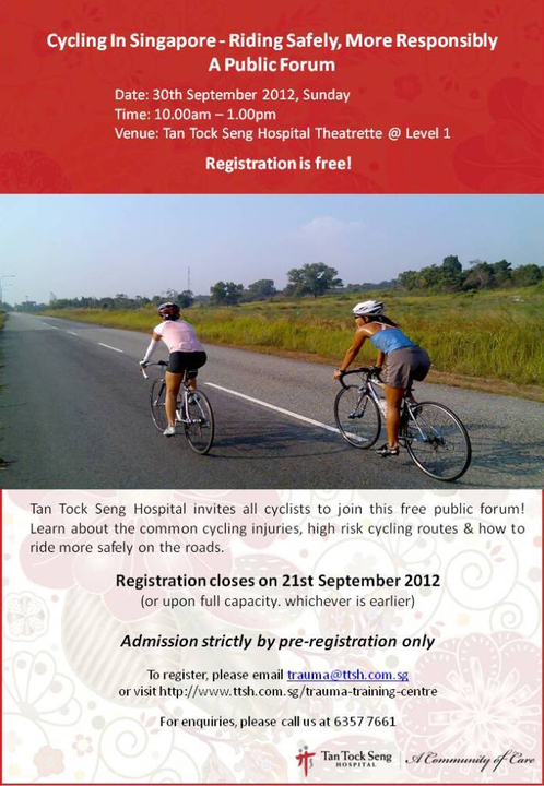 Cycling Forum at Tan Tock Seng Hospital Traumacyclingforum30Sep12-1