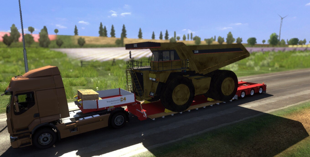 Doll Vario trailer con Caterpillar 257M v2.0 trailer 1c27bab6bc62b1f404ffc72eb924987c