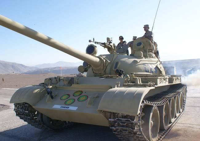 ARMA DE BLINDADOS DEL EJERCITO PERUANO T-55Tacna-Cesar0011