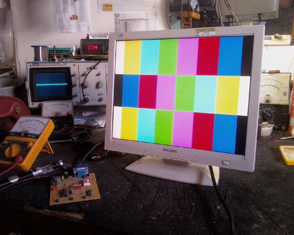 Gerador de padrões para monitor. IMG186-01