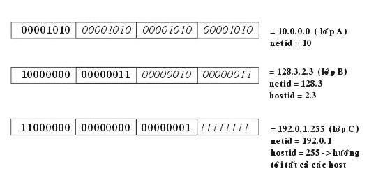 Giao thức TCP/IP (bai giang) ViducautrucdiachiIP