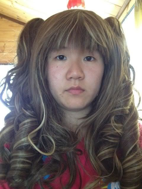 [Seller] Brown/Blonde Curly Wig with Pigtails Scan015