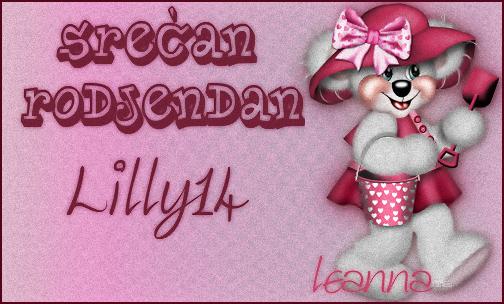 Lill14, sreðan ti roðendan! Lilly14