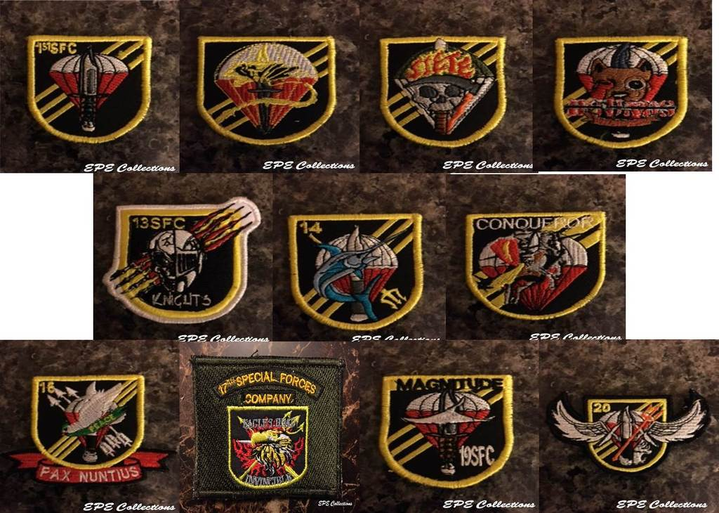 Special Forces patches SF%20Companies