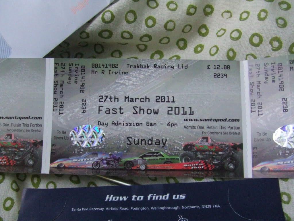 2x fast show tickets DSCF1447
