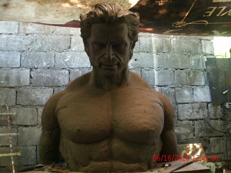sculpting hugh jackman wolverine 1:1 testing GEDC1064Medium