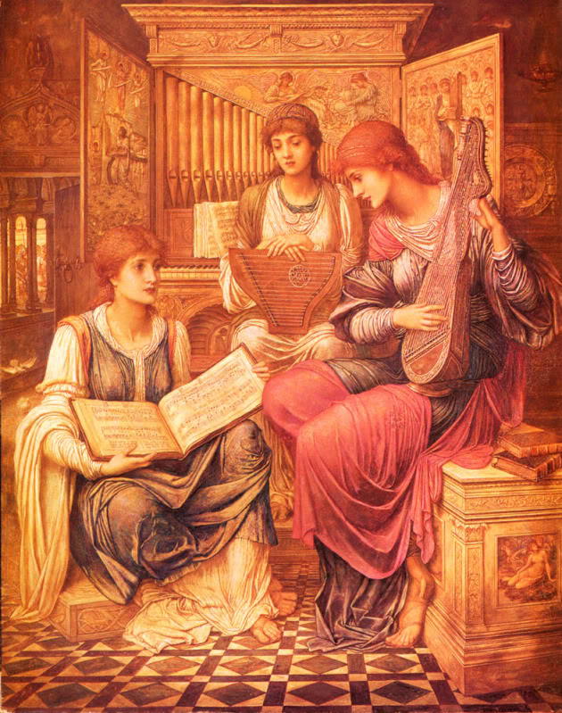 Música y pintura Strudwick_John_Melhuish_The_Music_O