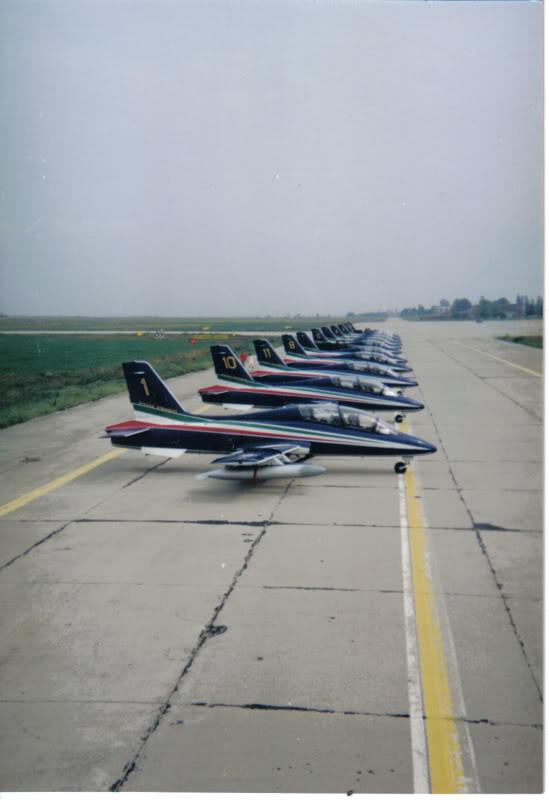 Aeroportul Timisoara (Traian Vuia) - 1990-2007 AeromacchiMB-339FrecceTricoloriaugu