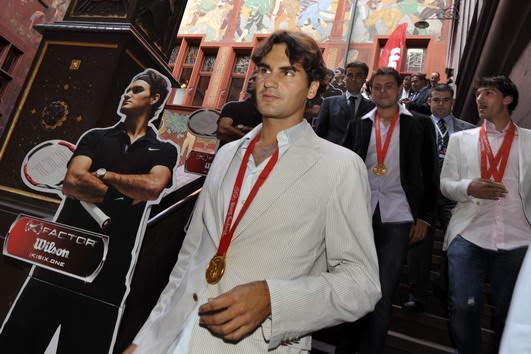Roger Federer y los JJOO 0809_empfangbasel_georgioskefalas_1