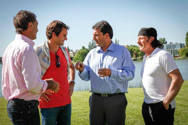Juan Martín Del Potro vs Roger Federer del 12 al 13 de diciembre de 2012. 12165_483039178406505_540013613_n