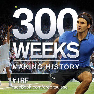 Felicidades Roger por tu semana 300 como nº 1 525959_460142450696178_1789013057_n
