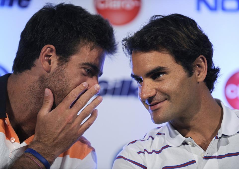 Juan Martín Del Potro vs Roger Federer del 12 al 13 de diciembre de 2012. 77001_483038818406541_644399308_n