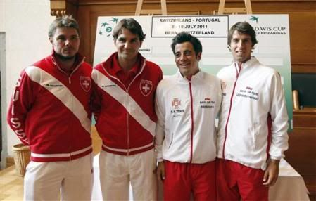 Eliminatoria del grupo Europa-África grupo I, Suiza Vs Portugal del 8 sl 10 de Julio L5310422