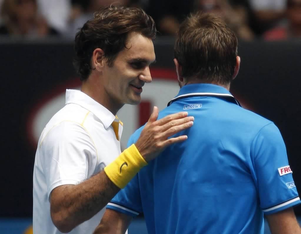 Stanislas Wawrinka y Roger Federer - Página 2 Ausopen110125qfshnt06