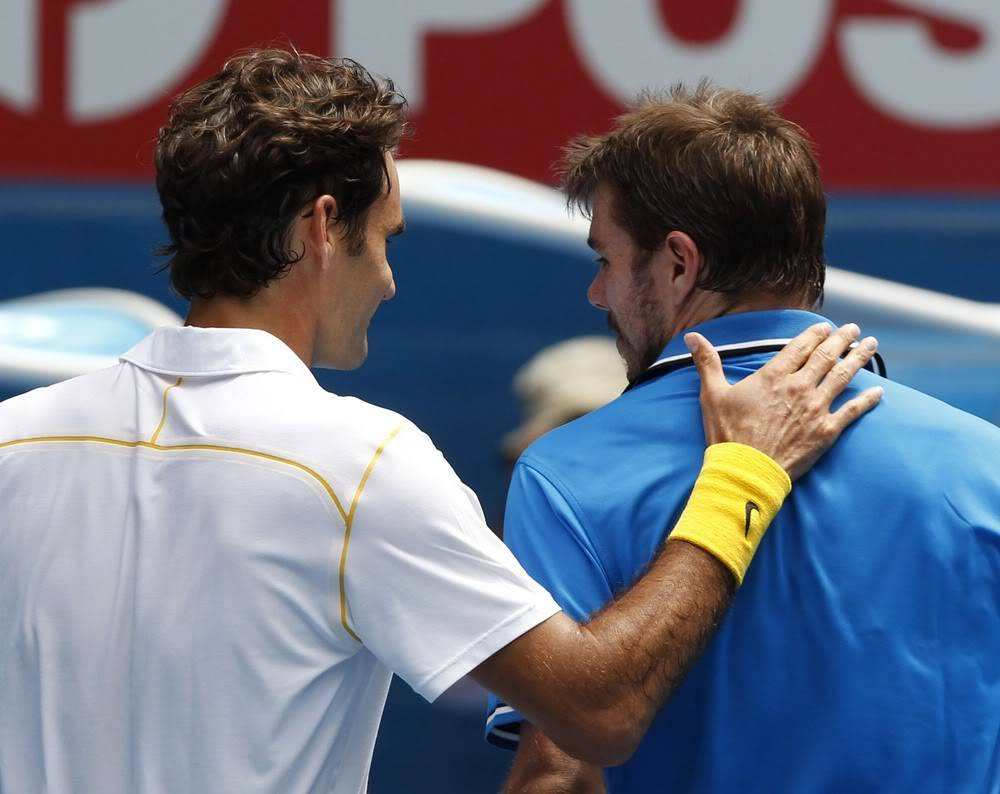 Stanislas Wawrinka y Roger Federer - Página 2 Ausopen110125qfshnt07