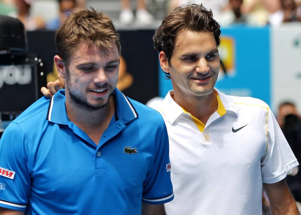Stanislas Wawrinka y Roger Federer - Página 2 Ausopen110125qfshnt11