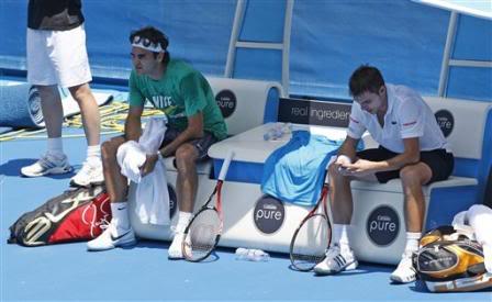Stanislas Wawrinka y Roger Federer L4228532