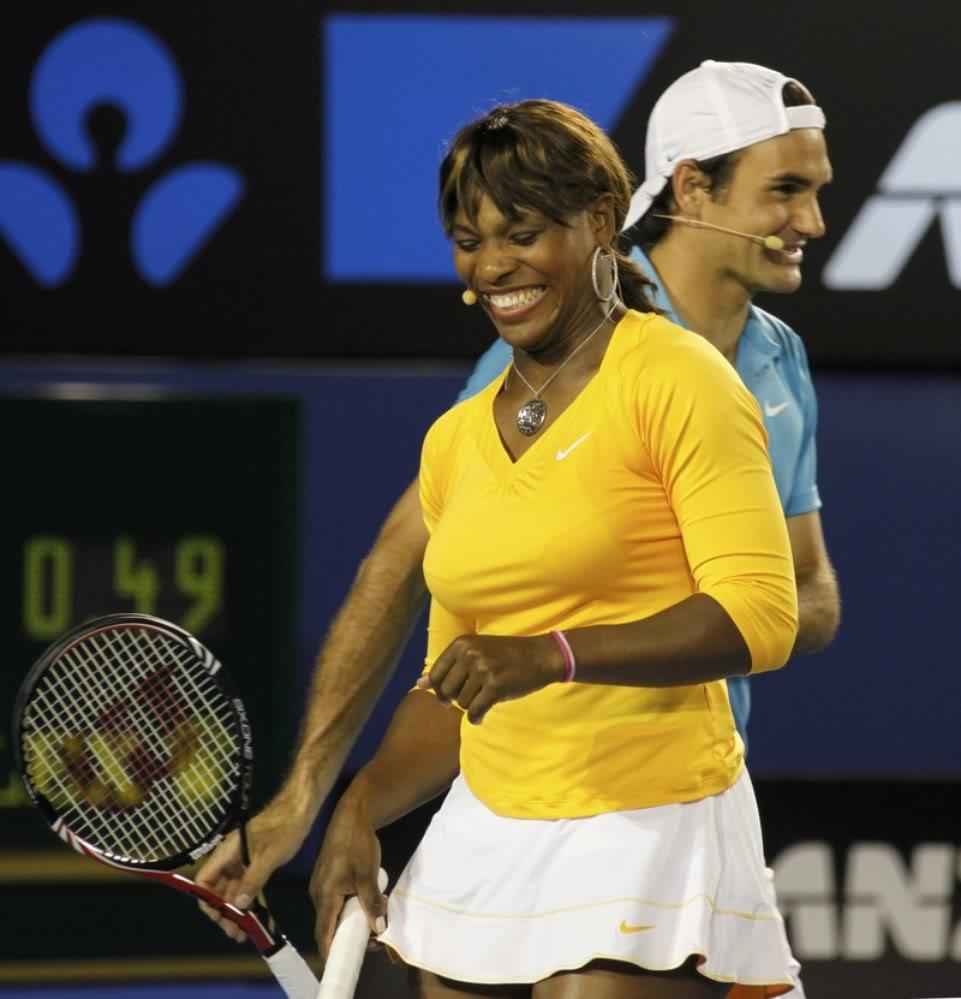 Roger y Serena Williams Ausopen100117haitiserena08
