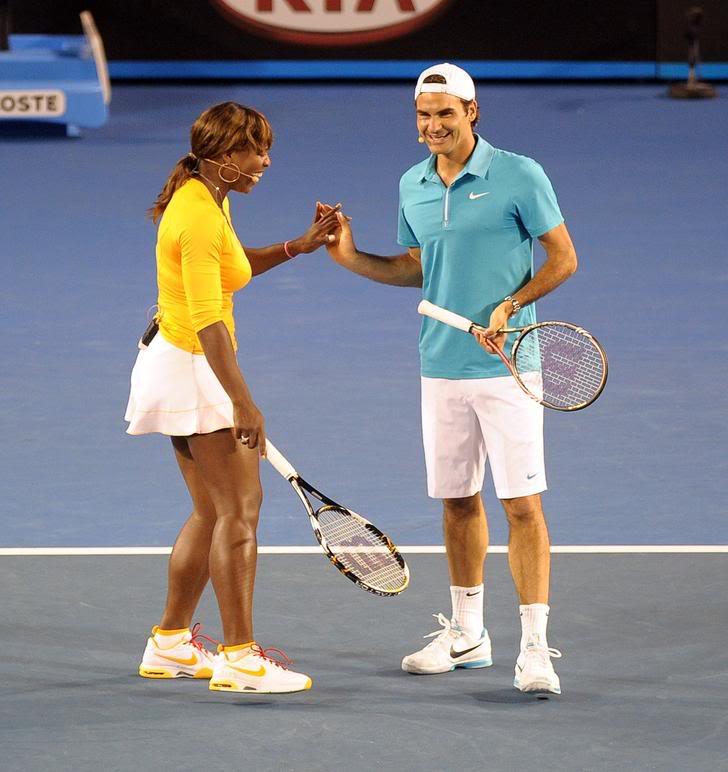 Roger y Serena Williams Ausopen100117haitiserena13