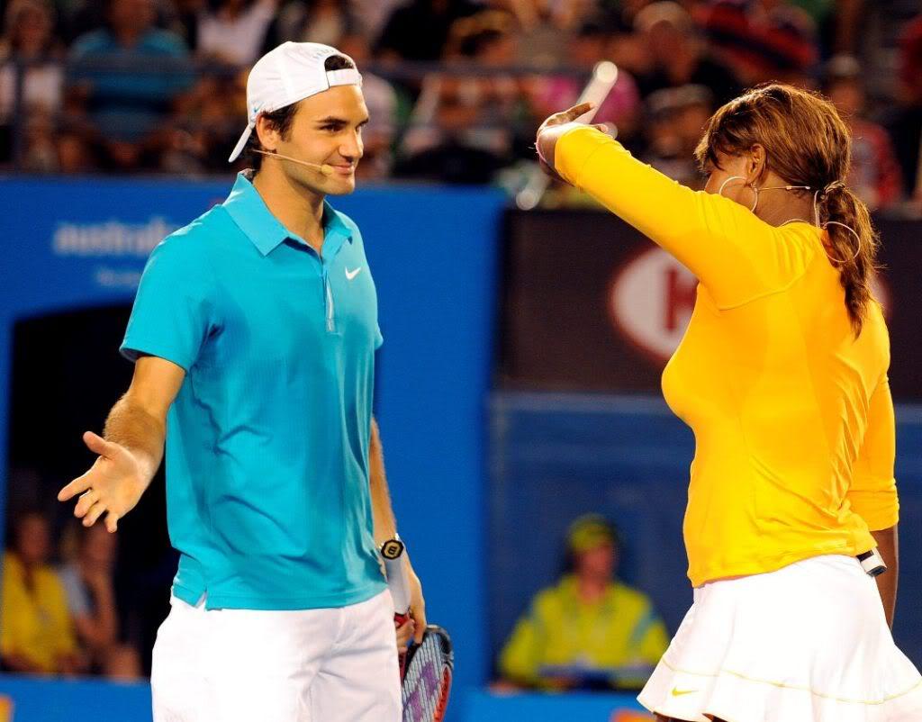 Roger y Serena Williams Ausopen100117haitiserena15