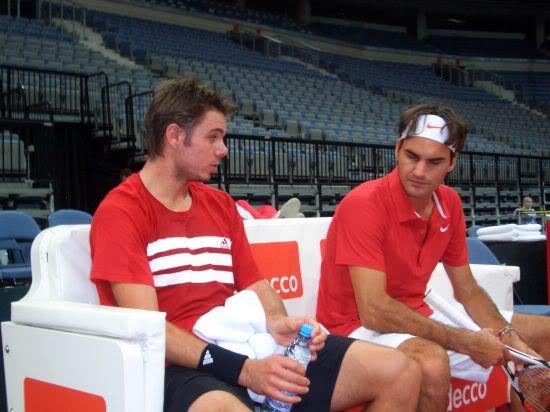 Stanislas Wawrinka y Roger Federer Cd11