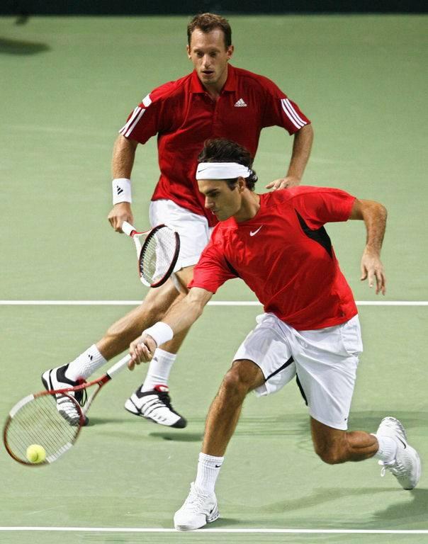 Roger e Yves Allegro. DavisCup2006-100