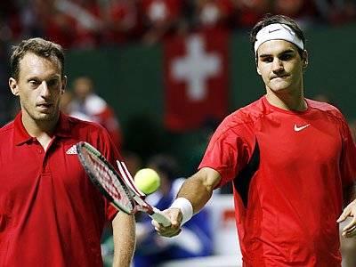 Roger e Yves Allegro. DavisCup2006-105