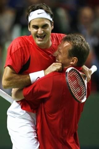 Roger e Yves Allegro. DavisCup2006-114