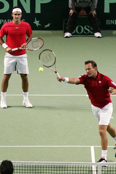 Roger e Yves Allegro. DavisCup2006-99