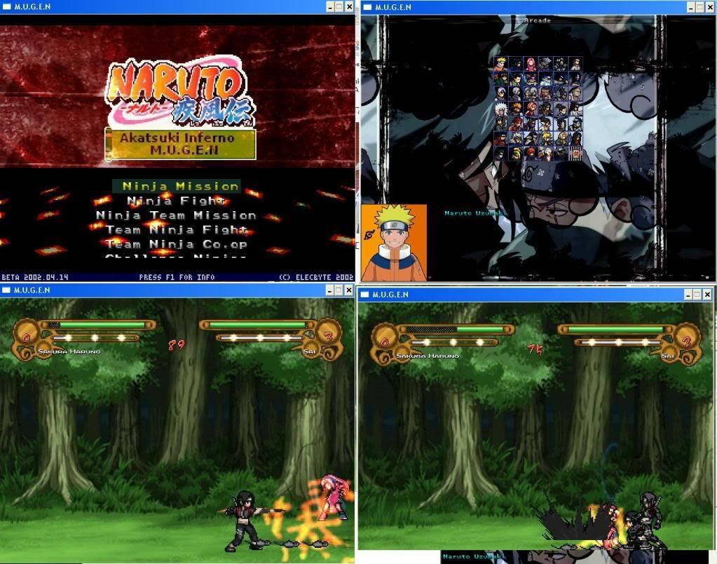 Naruto Akatsuki Inferno M.U.G.E.N NtBad