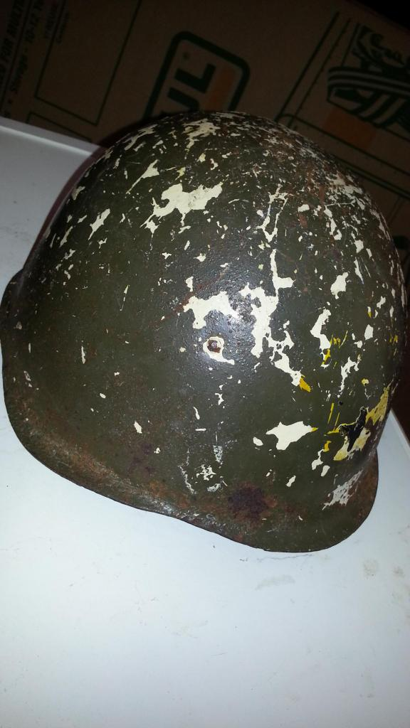Old Helmet Pulled from a Dung Pile 20140519_120157