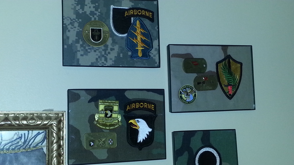 More of my Challenge Coins - Man Cave Display 20150621_133731