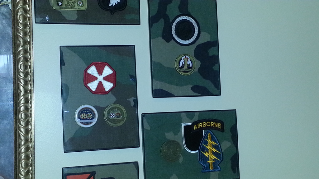 More of my Challenge Coins - Man Cave Display 20150621_133741