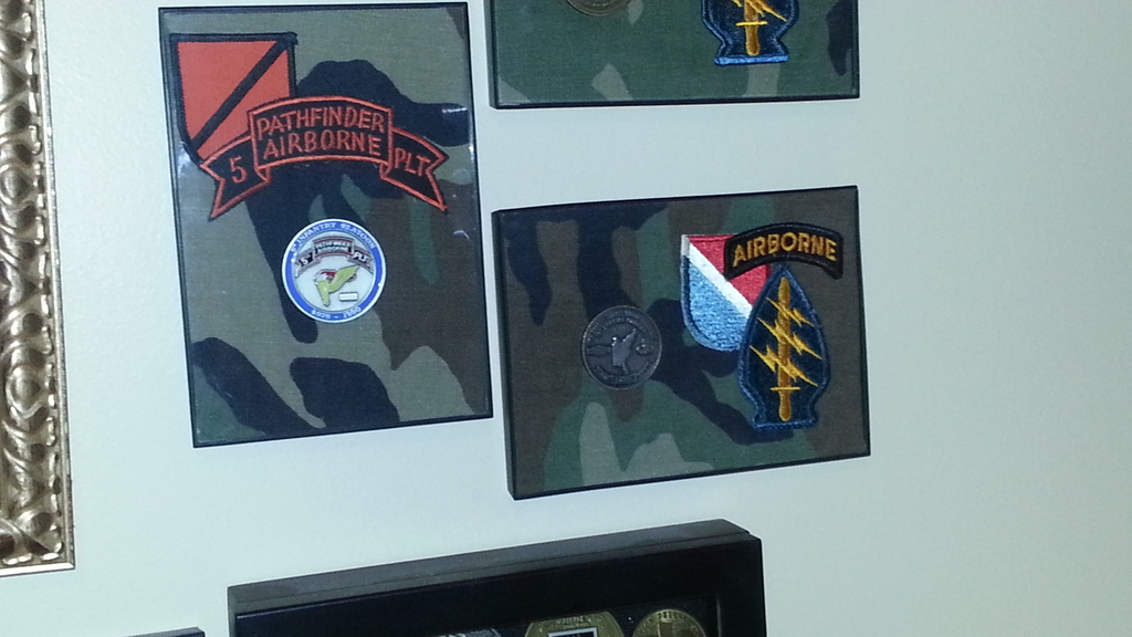 More of my Challenge Coins - Man Cave Display 20150621_133747
