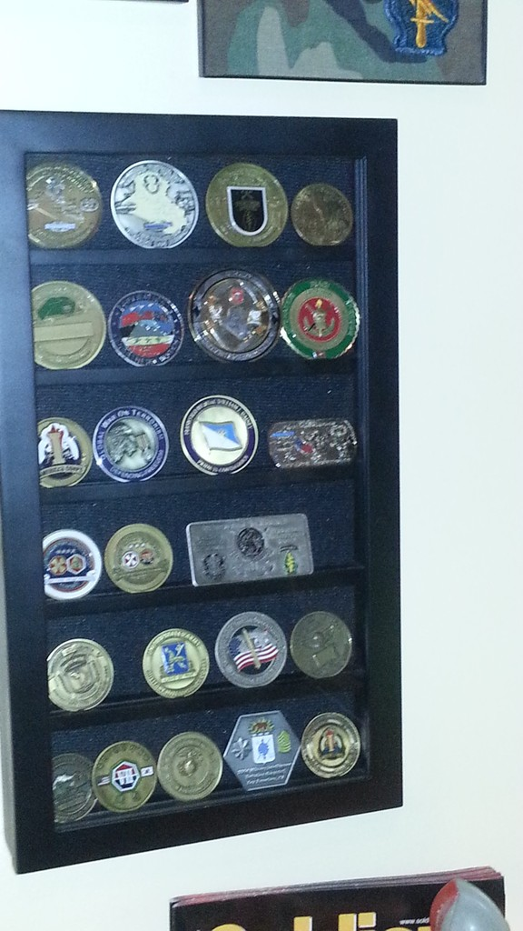 More of my Challenge Coins - Man Cave Display 20150621_133753