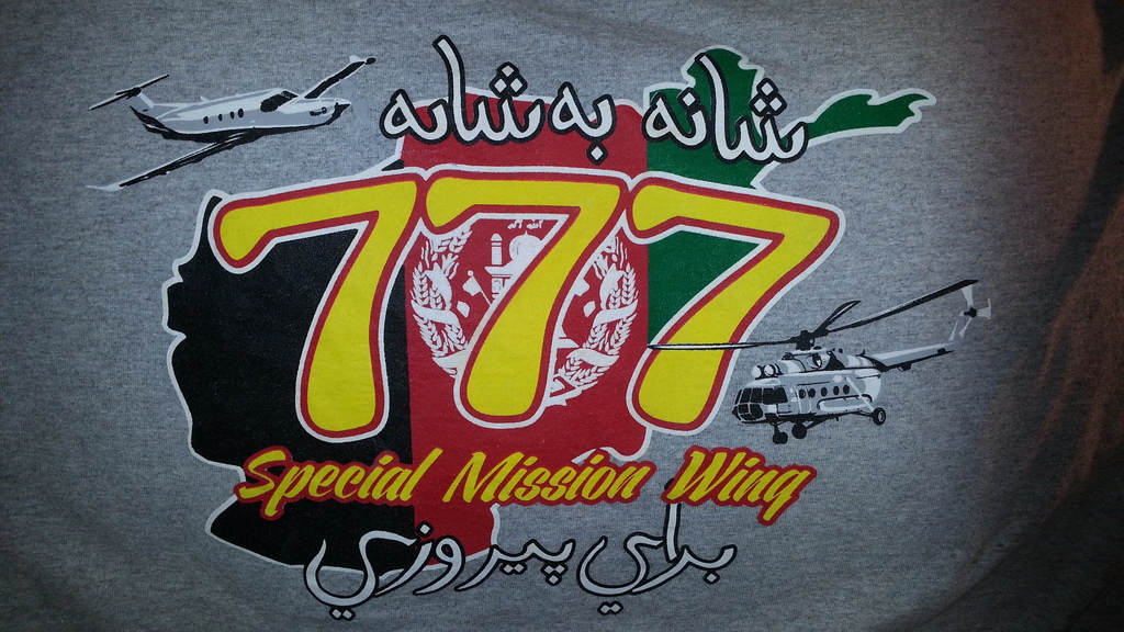 Afghan Special Mission Wing (777) Shirt 20160320_202542