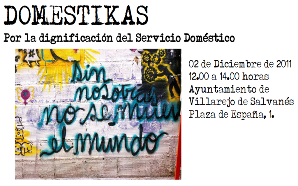 """MISECAM: Jornadas """"Doméstikas: por la dignificación del servicio doméstico"""".  Imagen1"""
