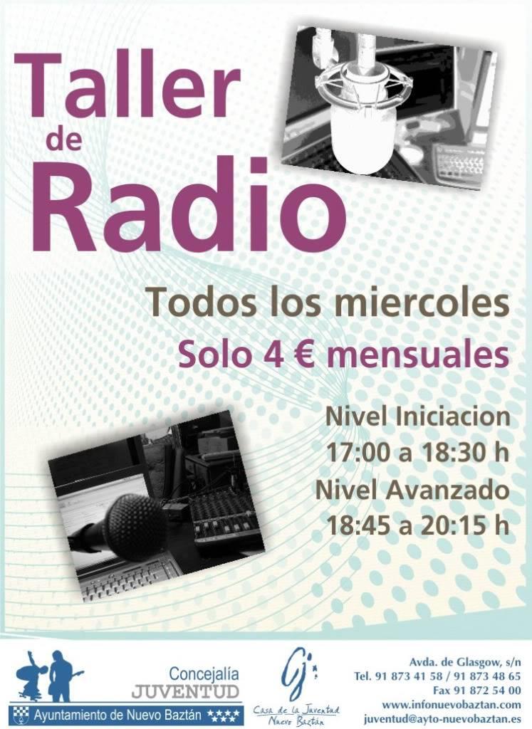 Nuevo Baztán: Taller Técnicas de Estudio y Taller de Radio Cartel_taller_de_radio2011